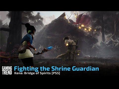 Kena: Bridge of Spirits - Fighting the Shrine Guardian on PS5 - [Gaming Trend]