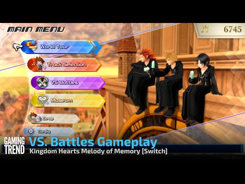 Kingdom Hearts Melody of Memory VS. Battles Gameplay - Switch [Gaming Trend]