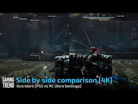 Side by side comparison [4K] - Outriders [PS5 vs PC Ultra Settings] - [Gaming Trend]