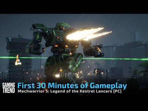 Mechwarrior 5 Mercenaries Legend of the Kestrel Lancers - First 30 Minutes [Gaming Trend]