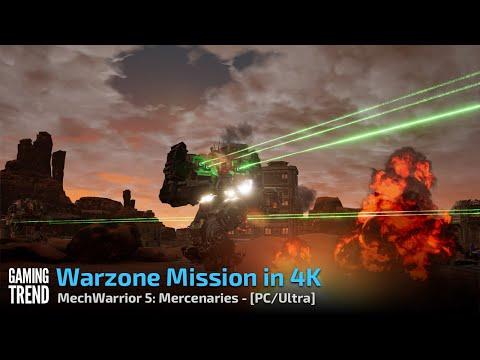 Mechwarrior 5 Mercenaries - Warzone Mission in 4K Ultra - PC [Gaming Trend]