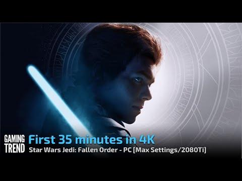 Star Wars Jedi Fallen Order - First 35 minutes in 4K - PC [Gaming Trend]