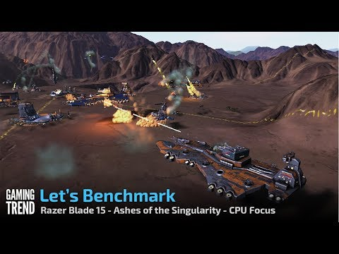 Razer Blade 15 - Ashes of the Singularity - CPU Focus Benchmark [Gaming Trend]