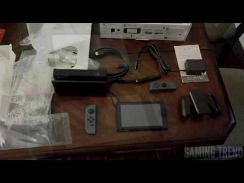 Nintendo Switch Unboxing and size comparison to Wii U, 3DSXL, and Vita [Gaming Trend]