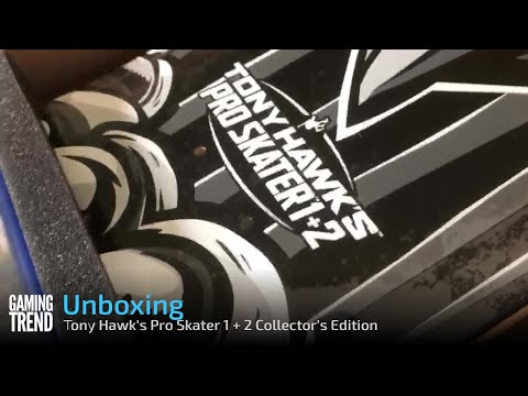 Tony Hawk's Pro Skater 1 + 2 Collector's Edition Unboxing - Green Board - PS4 [Gaming Trend]