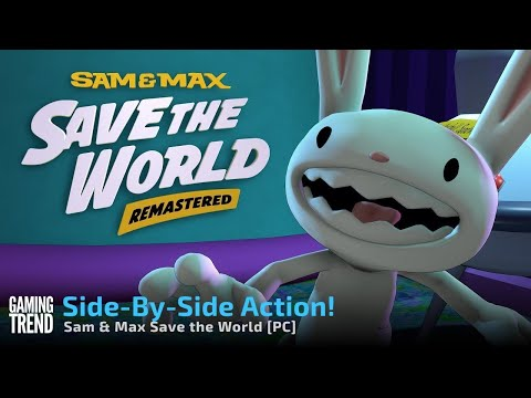 Sam and Max Save the World remaster side by side comparison on PC [Gaming Trend]