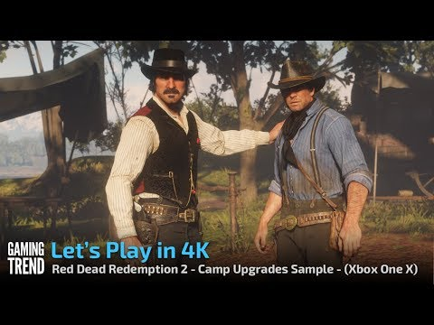 Red Dead Redemption - Let's Play in 4K - Camp Upgrades - [Gaming Trend]