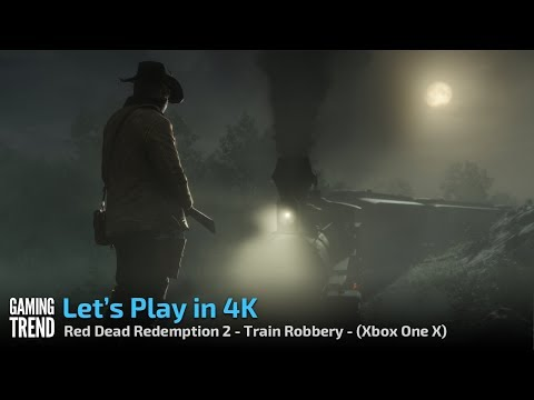 Red Dead Redemption - Let's Play in 4K - Train Robbery - [Gaming Trend]