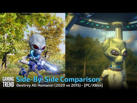 Destroy All Humans! - 2005 vs 2020 Comparison - XB and PC [Gaming Trend]