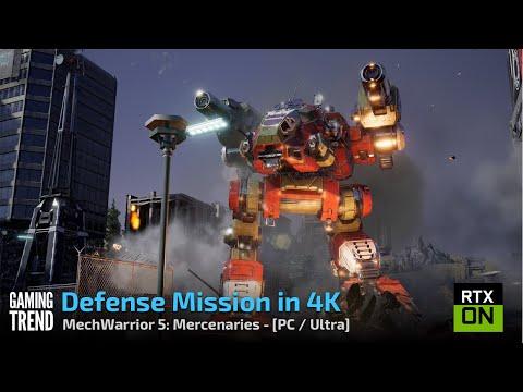 Mechwarrior 5 Mercenaries - Defense Mission in 4K/Ultra - PC [Gaming Trend]