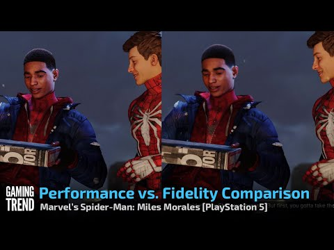 Marvel's Spider-Man Miles Morales - Side by Side Fidelity vs Performance - PS5 [Gaming Trend]