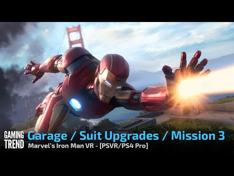 Marvel's Iron Man VR - Garage and Mission 3 - PS4 Pro / PSVR [Gaming Trend]