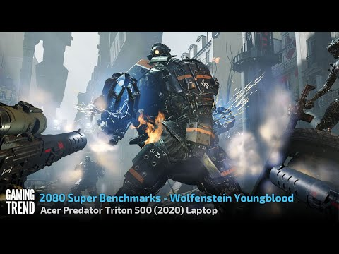 Acer Predator Triton 500 (2020) - With and Without Turbo - Wolfenstein Youngblood [Gaming Trend]