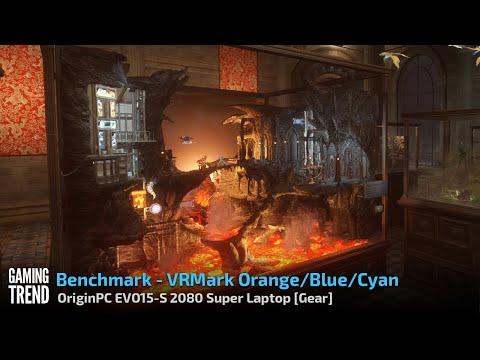 OriginPC EVO-15S - VRMark Orange \ Cyan \ Blue Room Benchmark [Gaming Trend]