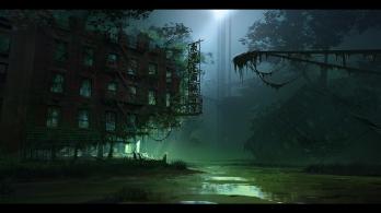 Crysis 3 - Swamp Concept Art