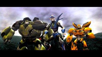 Transformers Prime_Wii U screenshot_Arcee Bulkhead and Bumblebee