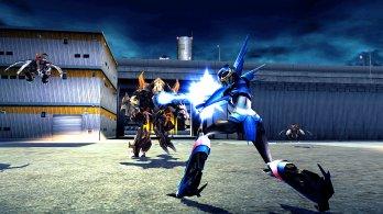 Transformers Prime_Wii U screenshot_Arcee in battle
