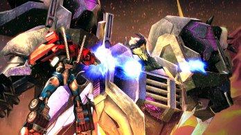 Transformers Prime_Wii U screenshot_Optimus Prime fights Thunderwing