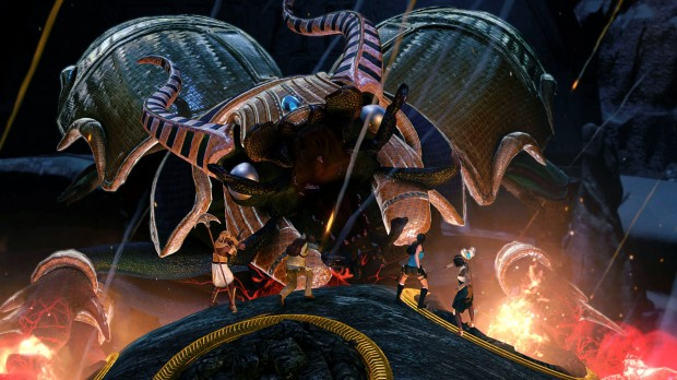 Khepri is just one of the many massive bosses in this game.