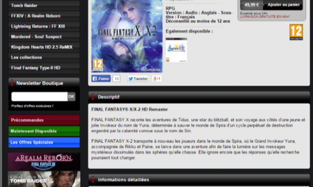 Final Fantasy X/X-2 Remaster May Be Coming to PS4