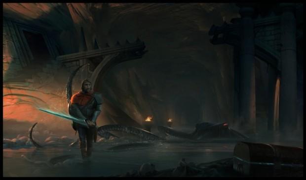 A lone adventurer, seeks fortune in the dark.