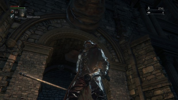 The ever-looming archways and columns frame all the violence quite nicely.