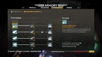 PS4 HELLDIVERS Armory Stratagems