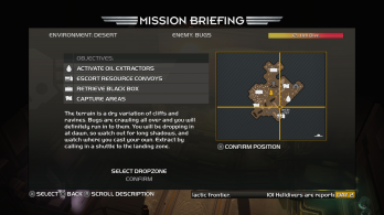 PS4 HELLDIVERS Mission Briefing