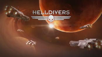 PS4 HELLDIVERS Title screen Desert