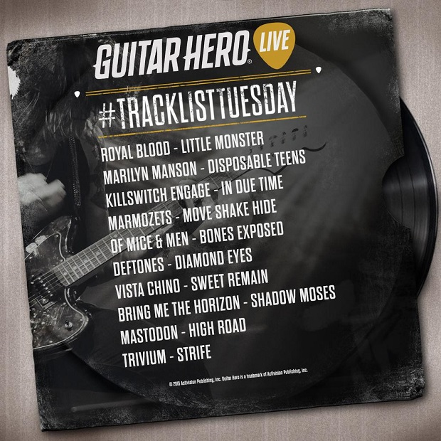 New Guitar Hero Live songs include Marilyn Manson, Trivium, and more