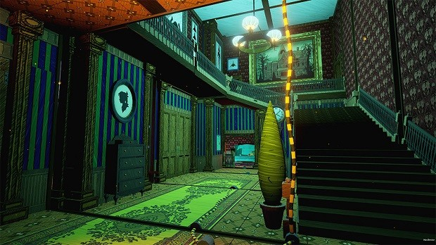 The color palette of this game features a lot of blues, greens, and reds.
