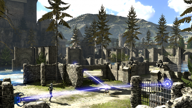 Puzzles get increasingly complex and start to utilize the landscape to mess with you.