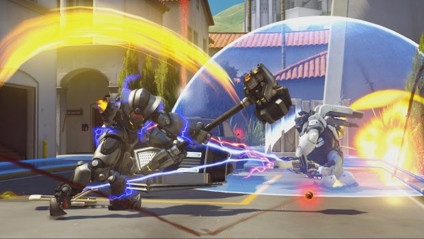 Tanks often clash at the point, taking massive swings at each other for control.