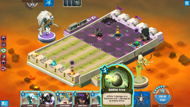 Krosmaga is similar to Hearthstone, but with an added board game element