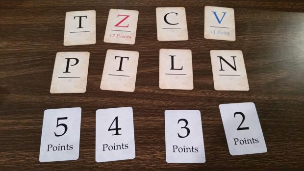 Scoring comes from how you use the letters in the array, especially letters that add bonus points.