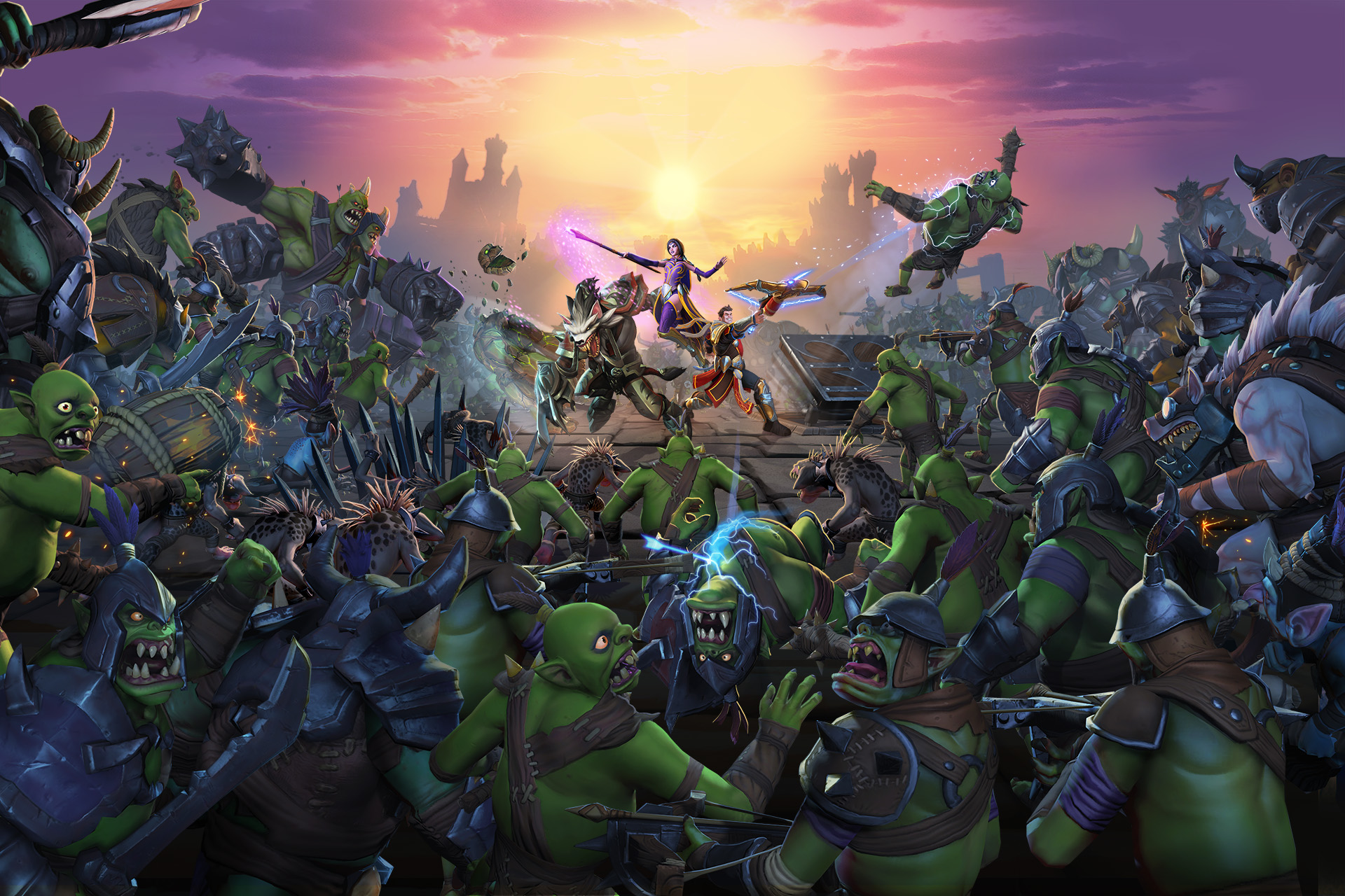 Key art for Orcs Must Die! Unchained by developer Robot Entertainment