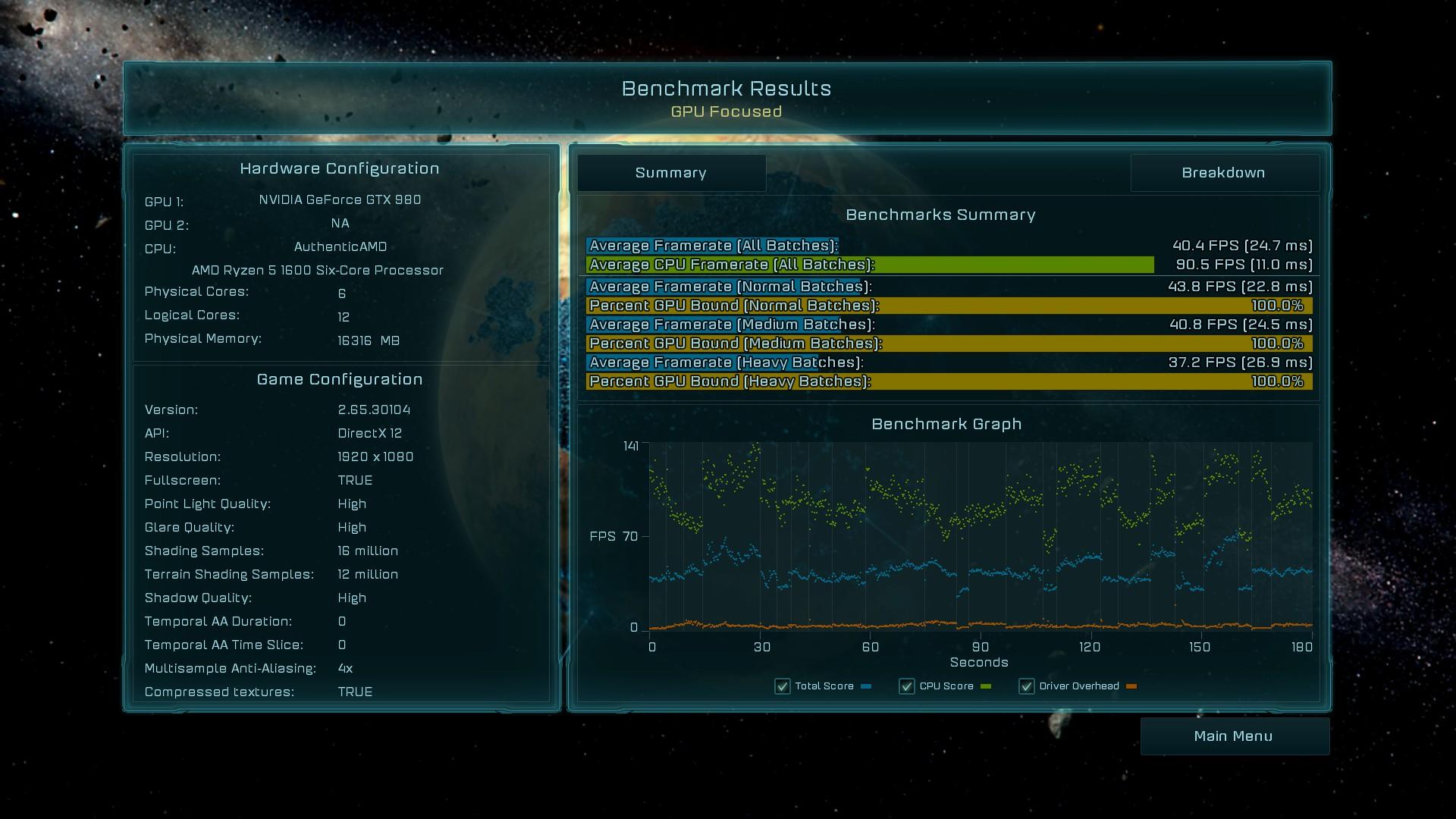 Ashes of the Singularity Escalation - 980 - 1080p - GPU focused