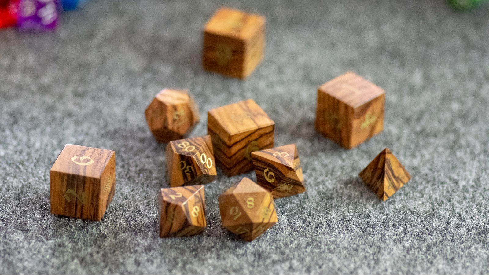A Roll To Die Forartisan Dice Bethlehem Olive Wood Archdruid Dice