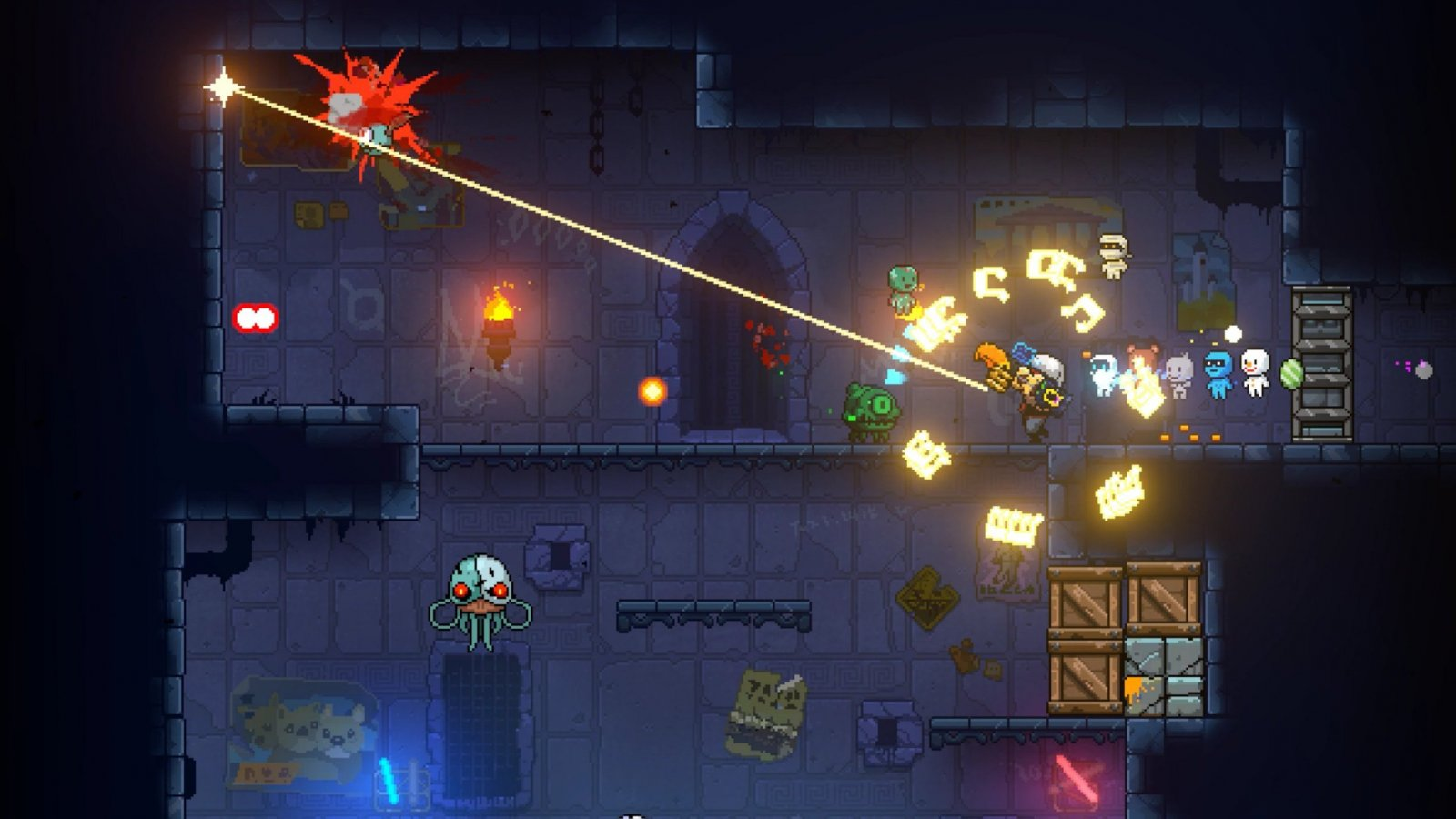 No Need To Remember Where You Left That Raygun You Ve Got Plenty Neon Abyss Review Gaming Trend